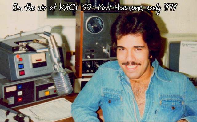 Jeff McNeal on the air, 6-10 PM, at KACY 152, circa Spring, 1979.
