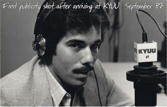 Jeff McNeal - 1st KYUU publicity photo, circa 9/82