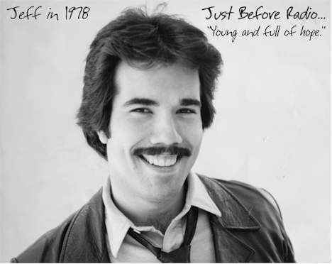 Jeff McNeal's original head shot, sent to agents in pursuit of acting in 1978, just before embarking on his radio career.